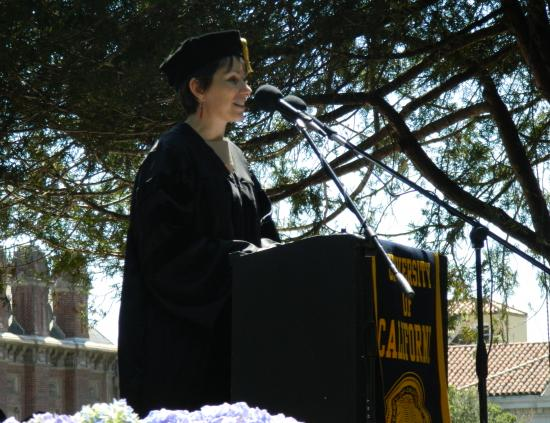 Ph.D. student speaker Elisa Oreglia