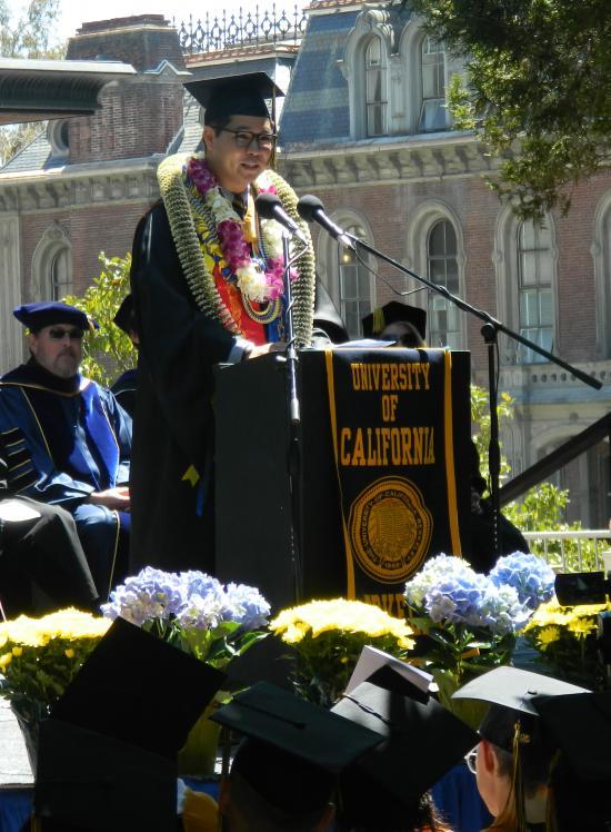 MIMS student speaker Gilbert Hernandez