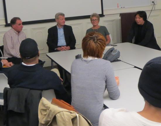 Ambassador Baucus visited the school's digital activism seminar.