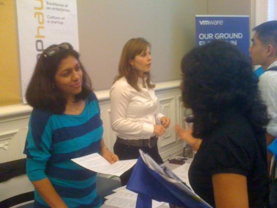 Ruchi Kumar (MIMS '09) represented SAP Labs to recruit current I School students.