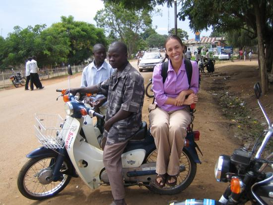 Jenna Burrell in Uganda, where she is researching the use of digital technologies