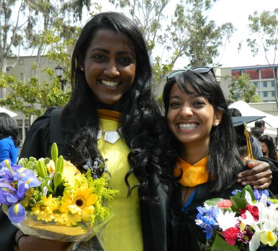 Students with the Most Spirit: Seema Puthyapurayil & Isha Dandavate