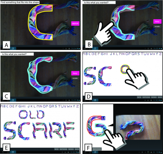 "One user created a typeface called ""Old Scarf"" from photos of colorful scarves."