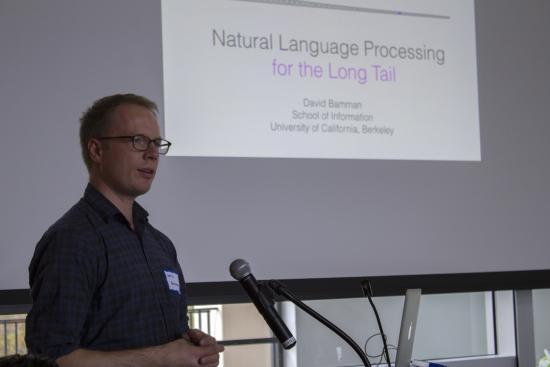 David Bamman lecturing