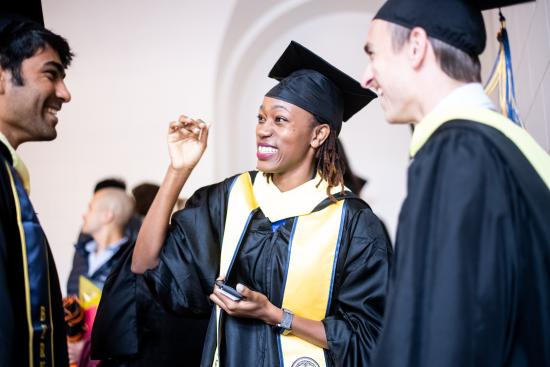 Eve at the School of Information Spring 2019 Commencement
