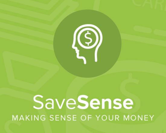 SaveSense is an iOS app that uses behavioral economics techniques to improve individual saving habits.