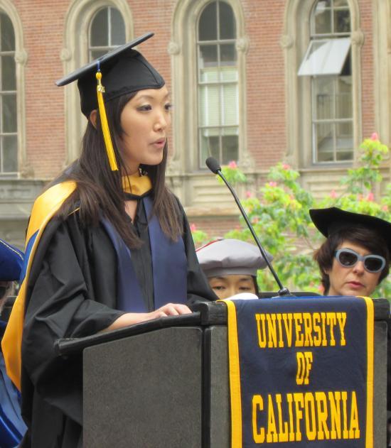 MIDS student speaker Sharon X. Lin