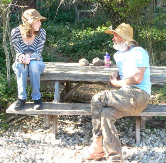 <b>Producers:</b> Shawna Hein interviews a local farmer