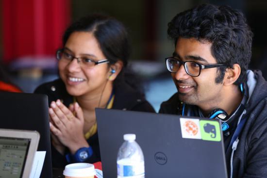 Teammates Sindhuja Jeyabal & Aditya Mishra