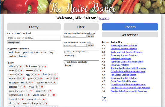 Screenshot of The Naive Baker