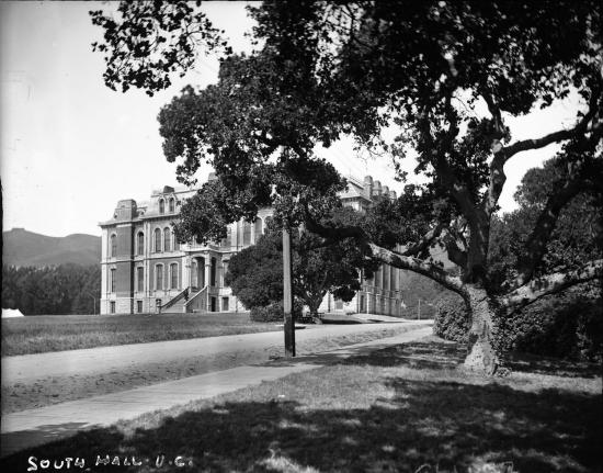 South Hall, c. 1900; Courtesy of Bancroft Library.