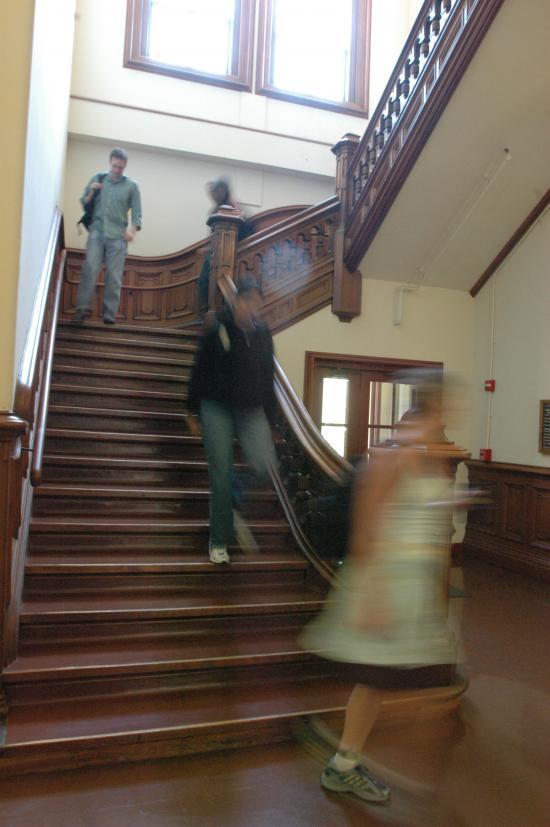 South Hall Stairs, 2005 (photo: Peg Skorpinski)