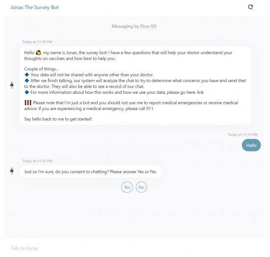User Interaction with JONAS