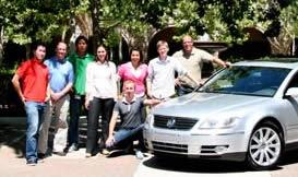 Jonathan Yen (third from left) with his coworkers at Volkswagen