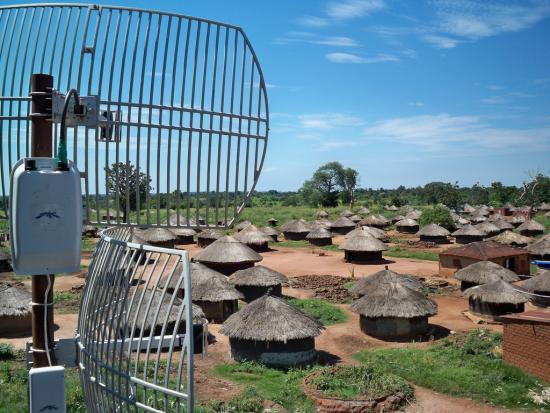 Wifi antenna in a northern Ugandan refugee camp (photo: Michael Manoochehri)